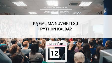 ka galima nuveikti su python programavimo kalba
