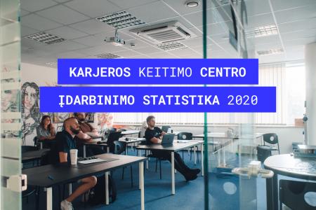 karjeros keitimo centro idarbinimo statistika 2020